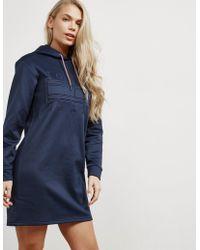 Tommy Hilfiger - Womens Logo Hoodie Dress Navy Blue - Lyst