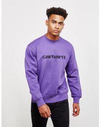 Carhartt WIP - Mens Carhartt Crew Sweatshirt Purple - Lyst