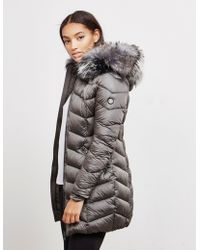 FROCCELLA - Womens Long Jacket Grey - Lyst