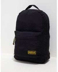 Barbour - Mens International Packaway Backpack Black - Lyst