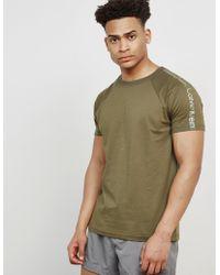 Calvin Klein - Mens Sleeve Branded Short Sleeve T-shirt Khaki/khaki - Lyst