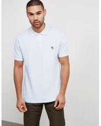 PS by Paul Smith - Mens Zebra Short Sleeve Polo Shirt Blue - Lyst