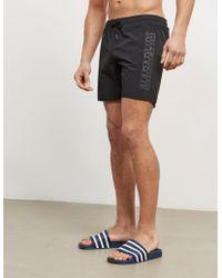 Napapijri - Mens Side Logo Swim Shorts Black - Lyst