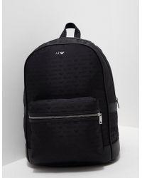 Armani Jeans - Mens Nylon Backpack Black - Lyst
