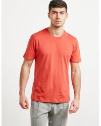 Pal Zileri - Mens Crew Neck Short Sleeve T-shirt Red - Lyst