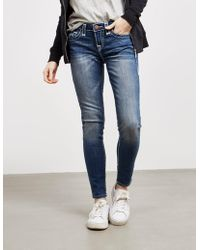 True Religion - Womens Halle Super Skinny Jeans Blue - Lyst