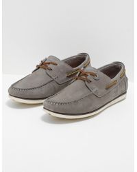 Barbour | Mens Capstan Boat Shoes Grey/grey | Lyst