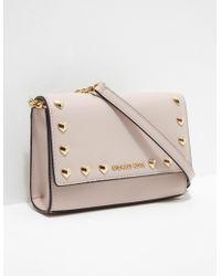 Michael Kors - Womens Love Stud Shoulder Bag Pink - Lyst