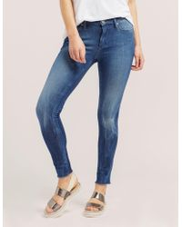 True Religion - Womens Halle Skinny Jeans - Online Exclusive Blue - Lyst