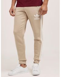 adidas Originals - Mens California Cuffed Track Trousers Stone/white - Lyst