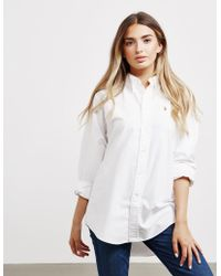 Polo Ralph Lauren - Womens Oversized Oxford Long Sleeve Shirt White - Lyst