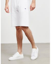 Champion - Mens Basic Fleece Shorts White - Lyst