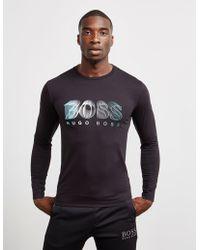 BOSS - Mens Togn1 Long Sleeve T-shirt Black - Lyst