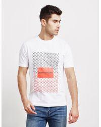 Calvin Klein - Mens Institutional Star Short Sleeve T-shirt White - Lyst