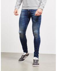 Replay - Mens Jondrill Skinny Ripped Jeans Mid Wash/mid Wash - Lyst
