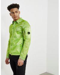 C P Company - Mens Toffee Lightweight Overshirt Green - Lyst
