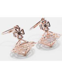 Vivienne Westwood - Womens Robbie Drop Earrings Rose Gold - Lyst