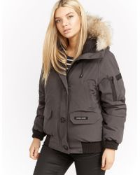 Canada Goose - Womens Chilliwack Padded Bomber Jacket Grey - Lyst