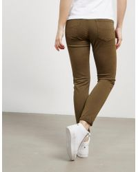 Polo Ralph Lauren - Womens Sateen Skinny Jeans Green - Lyst