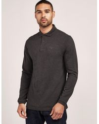 Barbour - Mens Long Sleeve Polo Shirt Grey - Lyst