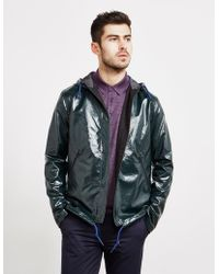 PS by Paul Smith - Mens High Shine Hooded Jacket Green - Lyst
