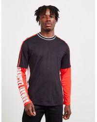 8b3fe562 Armani Exchange - Sleeve Logo Long Sleeve T-shirt Black - Lyst