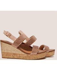 Ilse Jacobsen - Womens Poppy Diamante Wedge Sandals Bronze, Bronze - Lyst