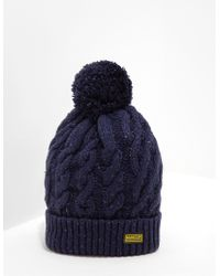 5a8d44f65f54f3 Paul Smith Men's Green Lambswool Twisted-yarn Cable Knit Bobble Hat in  Green for Men - Lyst