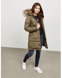 Parajumpers - Womens Long Bear Padded Jacket Green - Lyst