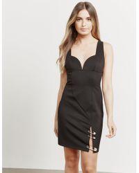 Versus - Womens Jersey Pin Dress Black - Lyst