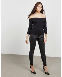 BOSS - Womens Black Feux Trousers - Online Exclusive - Lyst