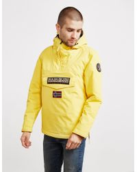 Napapijri - Mens Rainforest Padded Jacket Yellow - Lyst
