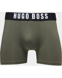 BOSS - Mens Identity Boxer Shorts Khaki/black - Lyst