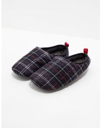 Barbour - Mens Guthrie Quilted Tartan Slippers Blue - Lyst