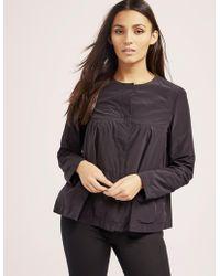 Armani Jeans - Womens Frill Jacket Black - Lyst