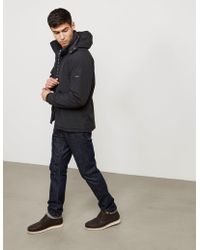 Barbour - Mens International Leeve Quilted Padded Jacket Black - Lyst