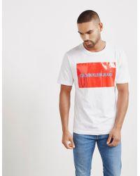 Calvin Klein - Institutional Box Short Sleeve T-shirt White - Lyst