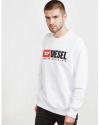 DIESEL - Mens Division Sweatshirt White - Lyst
