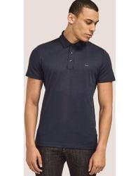Michael Kors - Mens Short Sleeve Sleek Polo Shirt Blue - Lyst