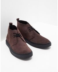 Fred Perry - Mens Hawley Mid Suede Brown/brown - Lyst