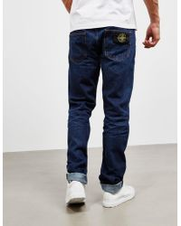 Stone Island - Mens Regular Taper Jean Blue - Lyst