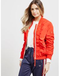 True Religion - Womens Fiery Bomber Jacket Red - Lyst