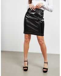 Armani Exchange - Leather Skirt - Online Exclusive Black - Lyst