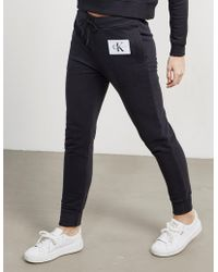 Calvin Klein - Womens True Icon Joggers Black - Lyst