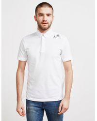 Armani Exchange - Mens Embroidered Star Short Sleeve Polo Shirt White - Lyst