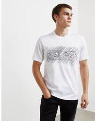 Z Zegna - Mens Scribble Short Sleeve T-shirt White - Lyst