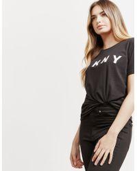 DKNY - Womens Logo Short Sleeve T-shirt Black - Lyst