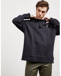 Fred Perry - Mens X Raf Simons Tape Hoodie - Online Exclusive Black - Lyst