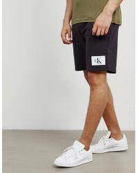 CALVIN KLEIN 205W39NYC - Mens Patch Fleece Shorts Black - Lyst
