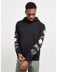 a5c0e49b3d Vans Stack Up Pullover Hoodie With Back Print In Pink Va3hfieiy in ...